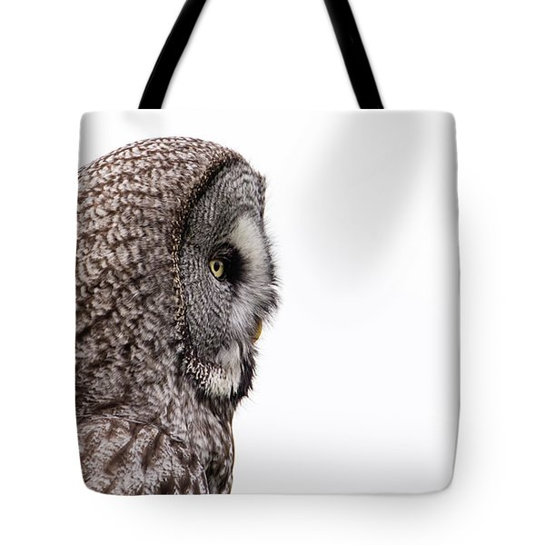 Great Grey's Profile On White Tote Bag