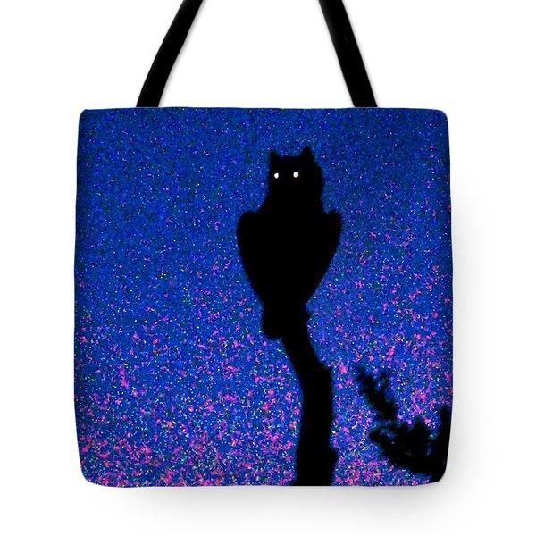 Great Horned Owl In The Desert Tote Bag
