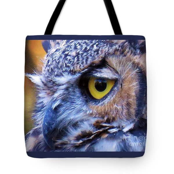 Feather Eyelashes Tote Bag by Michele Penner
