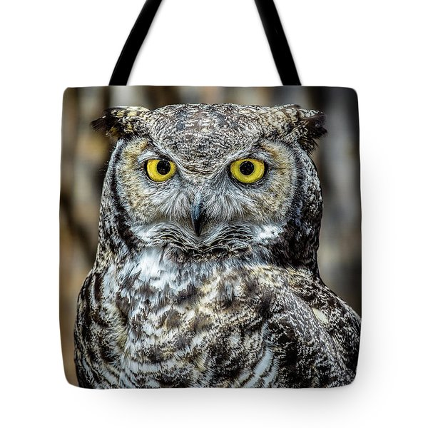 Tote Bag featuring the photograph Whooo Me ? by Phil Abrams