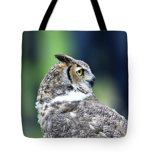 Great Horned Owl Profile Tote Bag