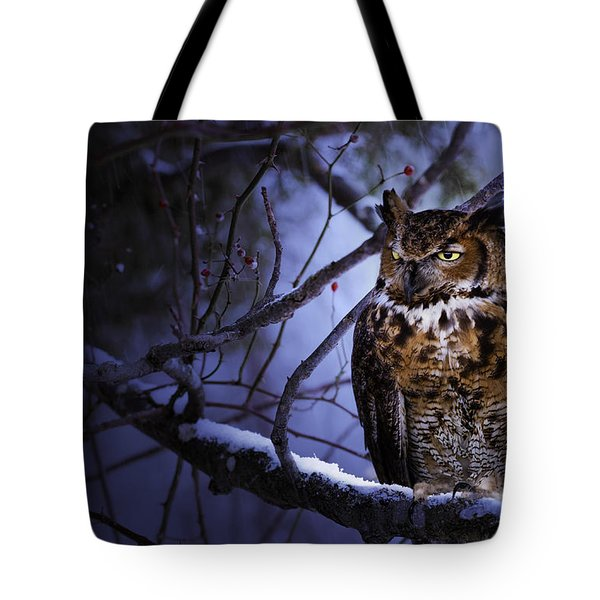 Great Horned Tote Bag by Ron Jones