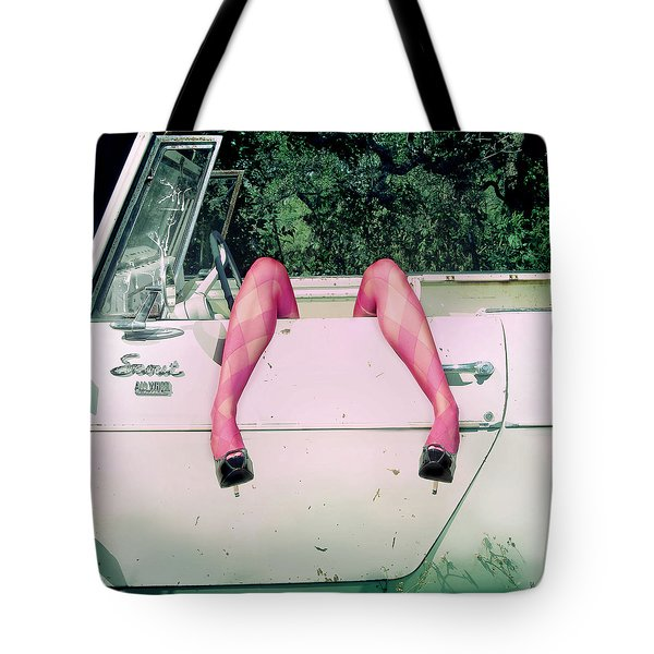 Tote Bag featuring the photograph Great Legs Brit by Gregg Cestaro