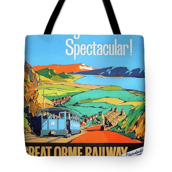 Great Orme Tramway, Great Britain Tote Bag
