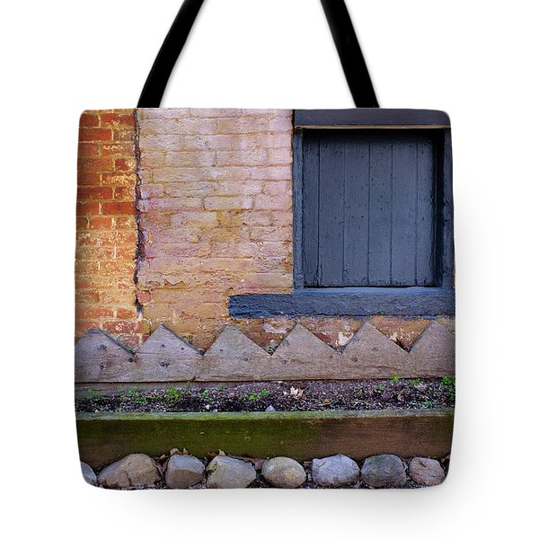 Great Place For Flowers Below A Purple Window In Frederick Maryl Tote Bag