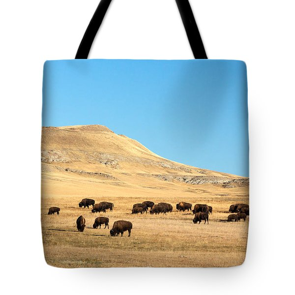 Great Plains Buffalo Tote Bag by Todd Klassy