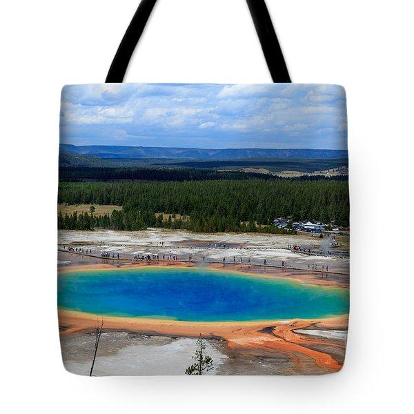 Great Prismatic Spring   Tote Bag