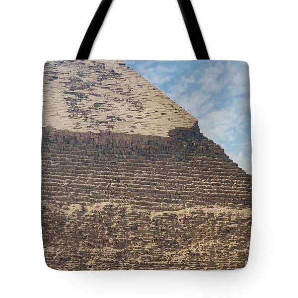 Tote Bag featuring the photograph Great Pyramid Of Giza by Silvia Bruno