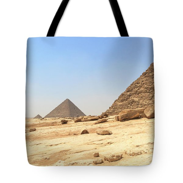 Tote Bag featuring the photograph Great Pyramids Of Gizah by Silvia Bruno