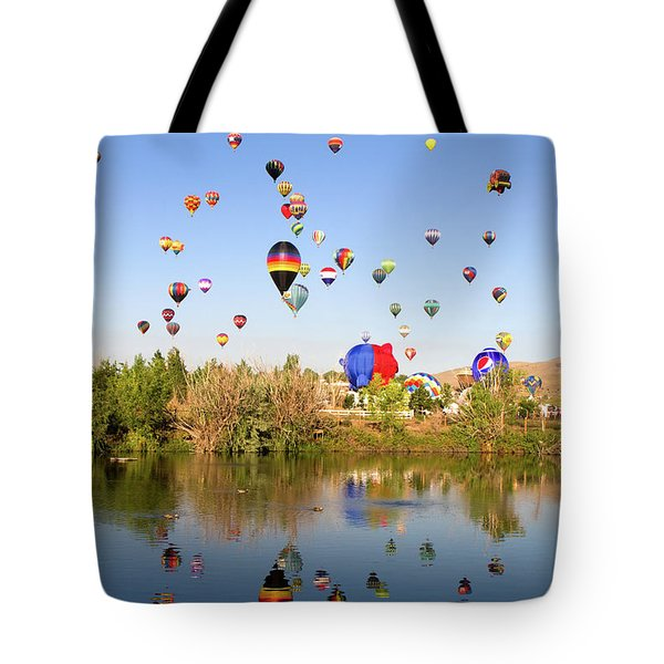 Tote Bag featuring the photograph Great Reno Balloon Races by Steven Frame