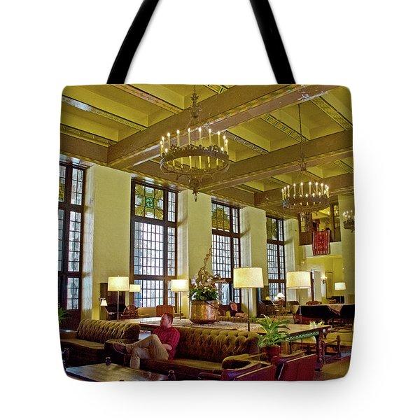 Ahwahnee Hotel Kitchen Yosemite California: Ahwahnee Hotel Tote Bags