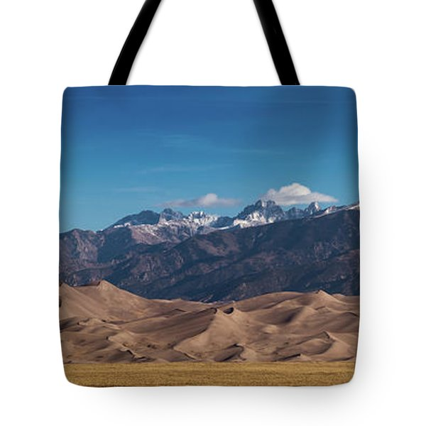 Tote Bag featuring the photograph Great Sand Dunes Panorama 3to1 by Stephen Holst
