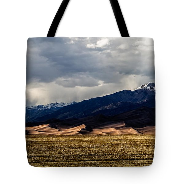 Tote Bag featuring the photograph Great Sand Dunes Panorama by Jason Roberts
