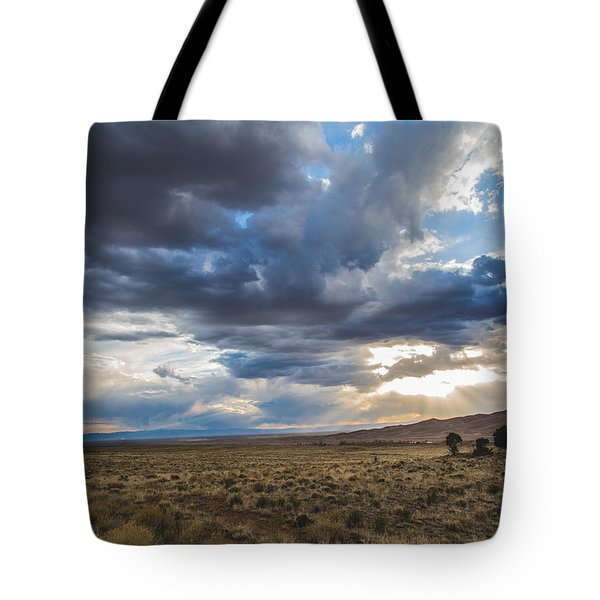 Tote Bag featuring the photograph Great Sand Dunes Stormbreak by Jason Roberts