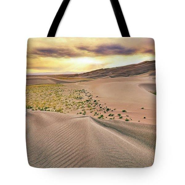 Great Sand Dunes Sunset - Colorado - Landscape Tote Bag by Jason Politte