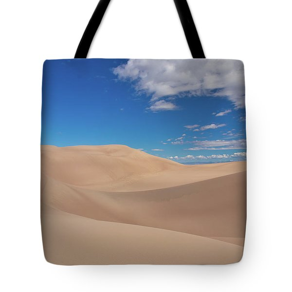 Great Sand Dunes Under A Blue Sky Tote Bag