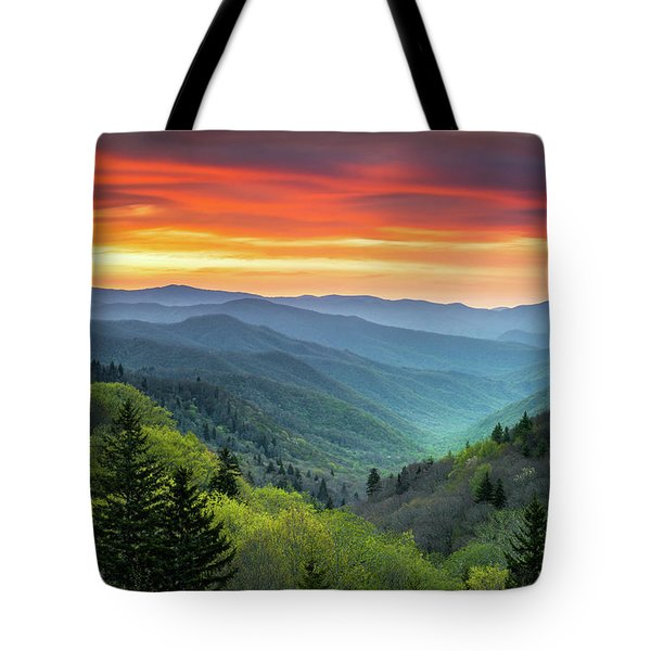 Great Smoky Mountains National Park Gatlinburg Tn Scenic Landscape Tote Bag