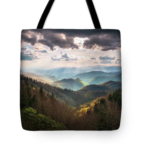 Great Smoky Mountains National Park North Carolina Scenic Landscape Tote Bag