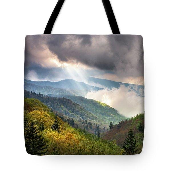 Great Smoky Mountains National Park Scenic Landscape Gatlinburg Tn Tote Bag