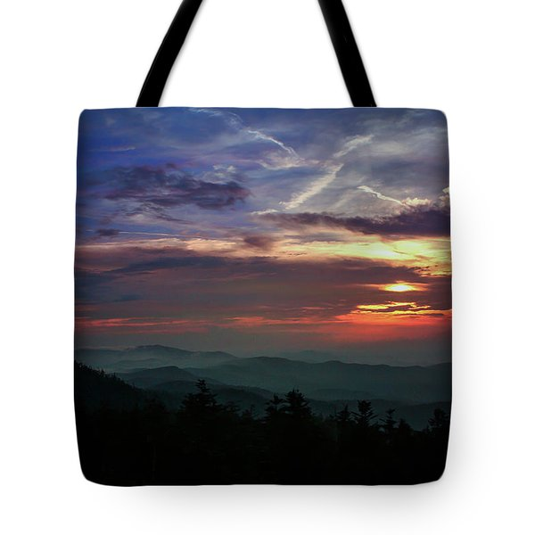 Tote Bag featuring the photograph Great Smoky Sunsets by Jessica Brawley