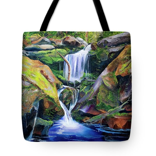 Great Smoky Waterfall Tote Bag