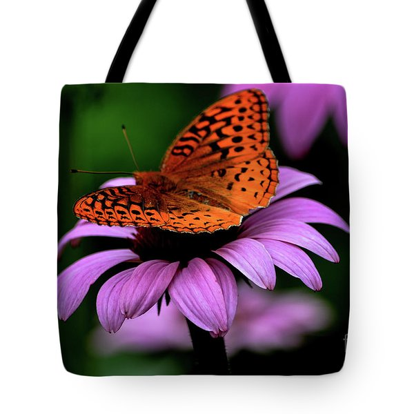 Tote Bag featuring the photograph Great Spangled Fritillary by Brenda Bostic