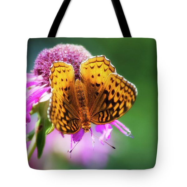 Great Spangled Fritillary Butterfly Tote Bag by Christina Rollo