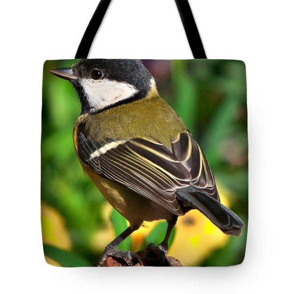Great Tit British Bird Parus Major Tote Bag