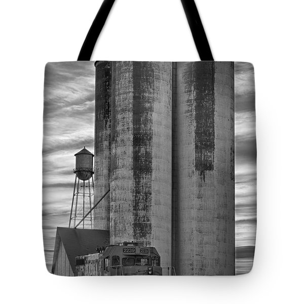 Great Western Sugar Mill Longmont Colorado Bw Tote Bag by James BO  Insogna