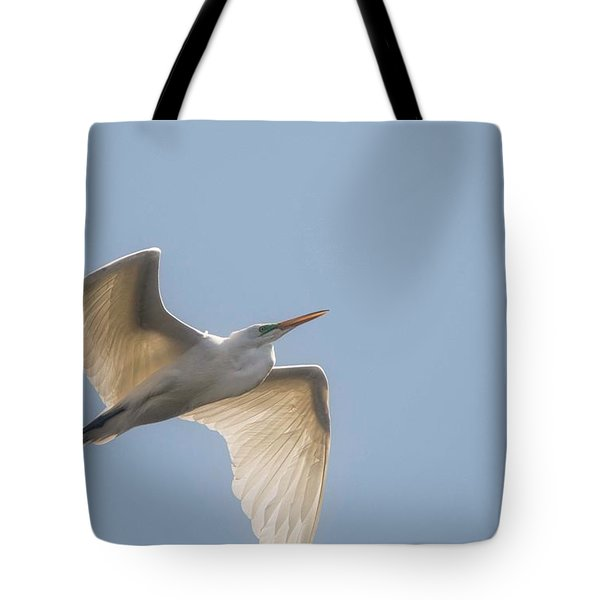 Tote Bag featuring the photograph Great White Egret - 2 by David Bearden