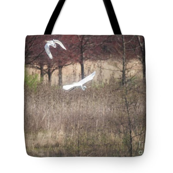 Tote Bag featuring the photograph Great White Egret - 3 by David Bearden