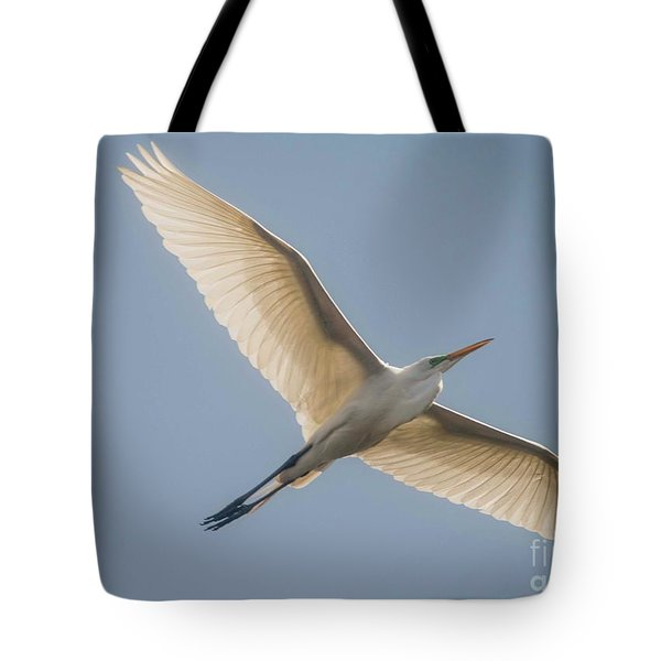 Tote Bag featuring the photograph Great White Egret by David Bearden