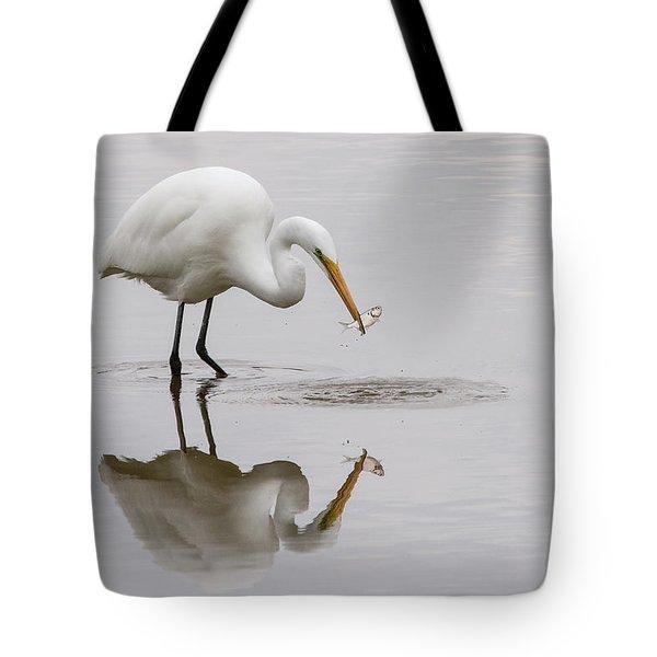 Great White Egret Tote Bag