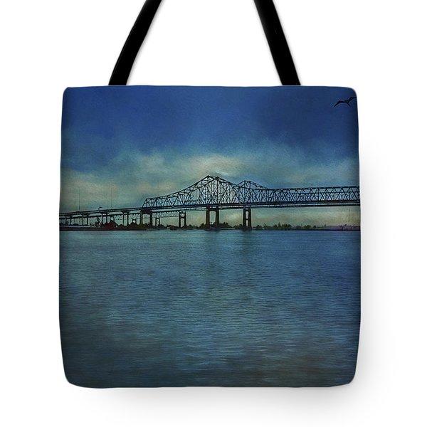 Greater New Orleans Bridge Tote Bag