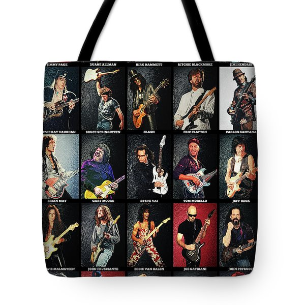 Greatest Guitarists Of All Time Tote Bag