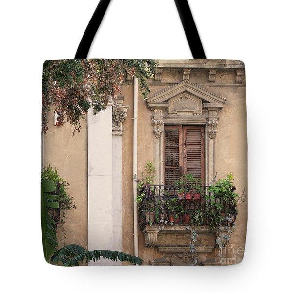 Grecian Courtyard Tote Bag