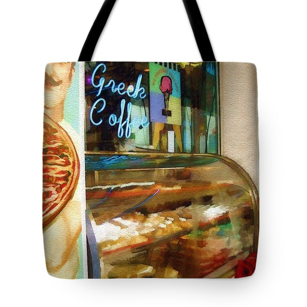 Greek Coffee Tote Bag