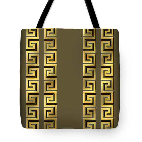 Greek Gold Pattern - Chuck Staley Tote Bag