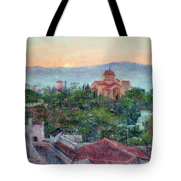 Greek Orthodox Sunset Tote Bag