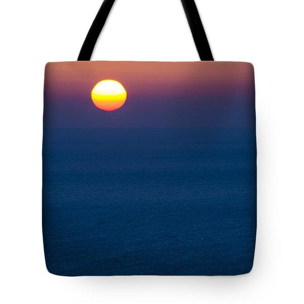 Greek Sunset Tote Bag by Rainer Kersten