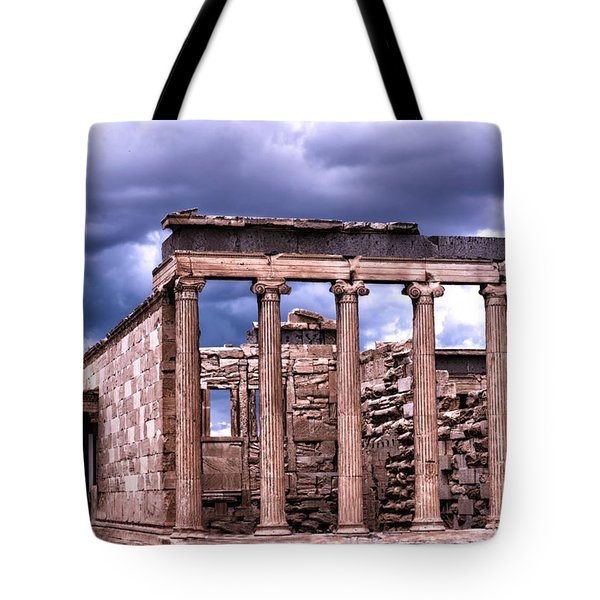 Tote Bag featuring the photograph Greek Temple by Linda Constant
