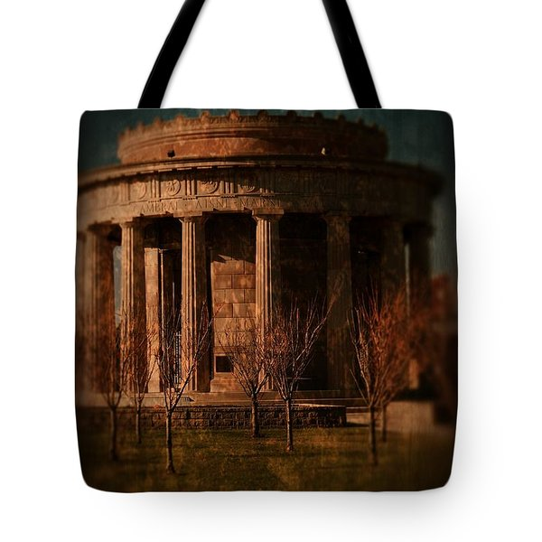 Greek Temple Monument War Memorial Tote Bag by Angie Tirado