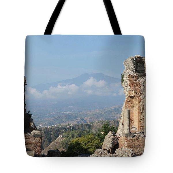 Greek Theatre Taormina Tote Bag