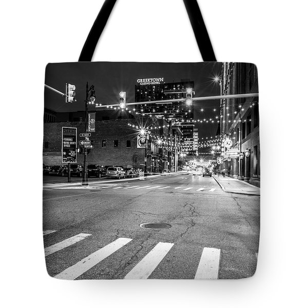 Greek Town In Black And White Tote Bag
