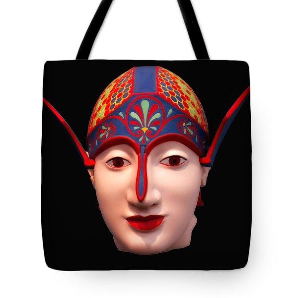 Greek Warrior Head Tote Bag