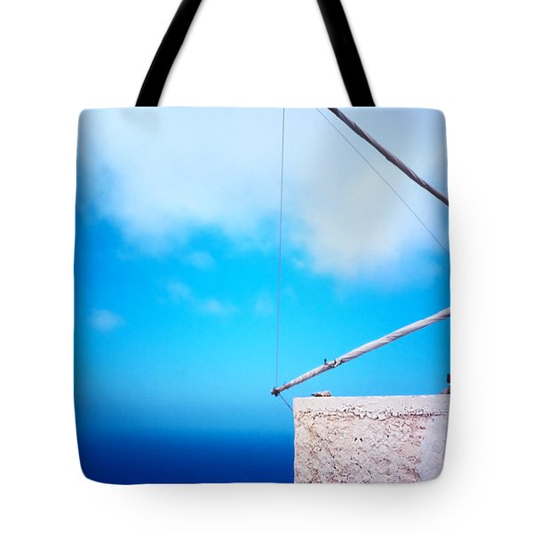 Greek Windmill Tote Bag by Silvia Ganora