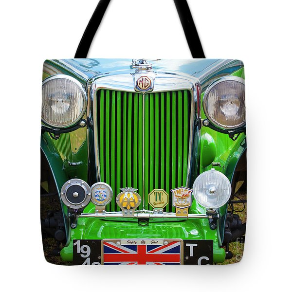 Tote Bag featuring the photograph Green 1948 Mg Tc by Chris Dutton