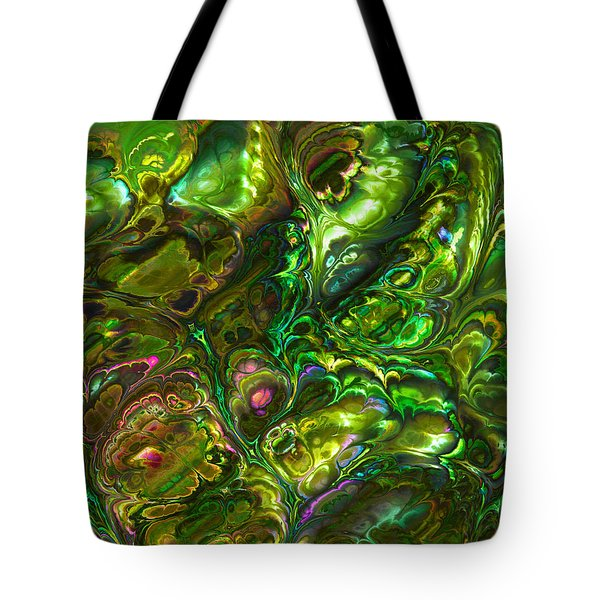Green Abalone Abstract Tote Bag