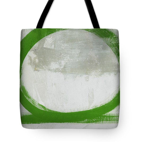 Green Abstract Circle 2 Vertical- Art By Linda Woods Tote Bag