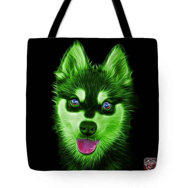 Green Alaskan Klee Kai - 6029 -bb Tote Bag
